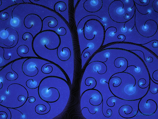The Tree Of Lights (Blue)