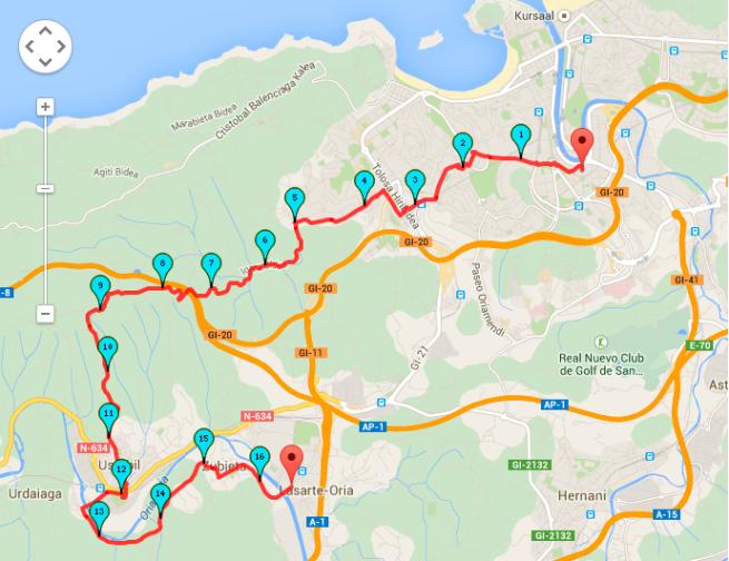 Ruta Donostia-Lasarte